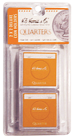 Quarter 2x2 Snaplock Coin Holder HE Harris Retail Pack 2x2 Quarter 2x2 Snaplock Coin Holder HE Harris Retail Pack, HE Harris & Co, 90921153