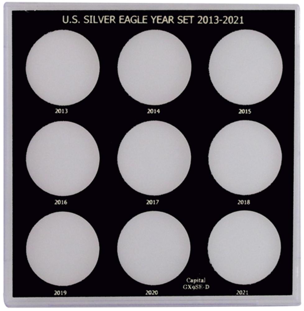 Capital Plastics US Silver Eagle Year Set 2013-2021
