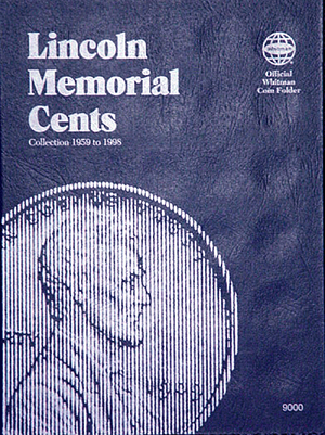 Whitman Coin Folder 9000 Lincoln Memorial Cents 1959-1998