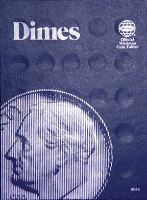 Whitman Dime Plain Coin Folder - No Dates Printed