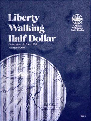 Whitman Liberty Walking Half Dollar Coin Folder 1916 - 1936