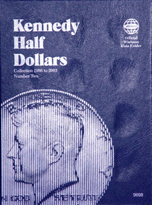 Whitman Kennedy Half Dollar #2 Coin Folder 6x7.75 Whitman Kennedy Half Dollar #2 Coin Folder, Whitman, 9698
