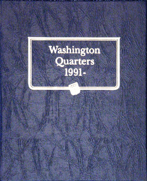 Washington Quarters Whitman Coin Album 1991 Washington Quarters Whitman Coin Album 1991, Whitman, 9123
