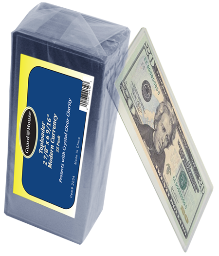 Guardhouse Modern Currency Toploader - 25 Pack