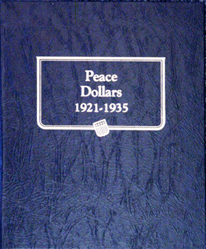 Peace Dollars Whitman Coin Album Peace Dollars, Whitman Coin Album, 9130