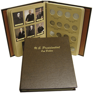 Presidential Dollars P&D - Dansco Coin Album 7184 Presidential Dollars Dansco Coin Album P&D, Dansco, 7184