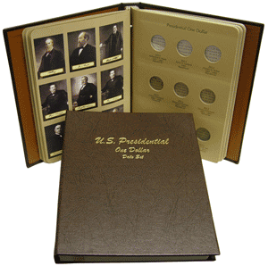 Presidential Dollars Single Mint Mark - Dansco Coin Album 7186 Presidential Dollars Dansco Coin Album 1 Mint Mark, Dansco, 7186