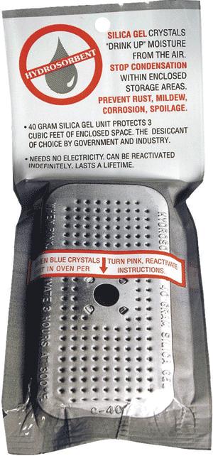 """40 Gram Silica Gel Unit Desiccant 4x2x1.5"""" 40 Gram Silica Gel Unit Desiccant, Hydrosorbent Dehumidifiers, SG-40"""