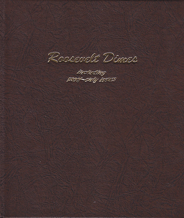 Roosevelt Dimes with Proofs - Dansco Coin Album 8125