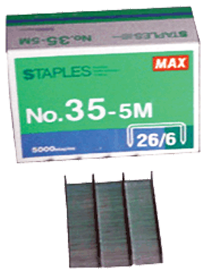 "1/4"" Standard Staple, 5000 qty. Max 35-5M Standard Staples, Max USA Corp, 35-5M"