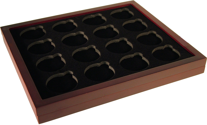 Guardhouse Wood Coin Tray for Air-Tite Capsules Size H