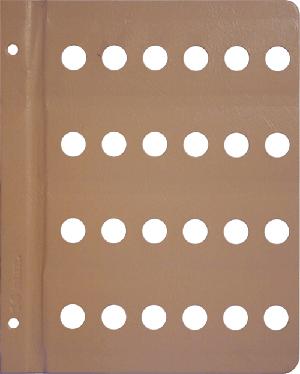 Dansco 16mm Blank Coin Album Page