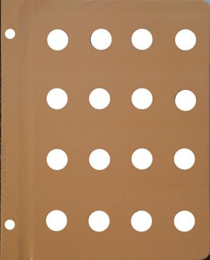 Dansco 18mm Blank Coin Album Page