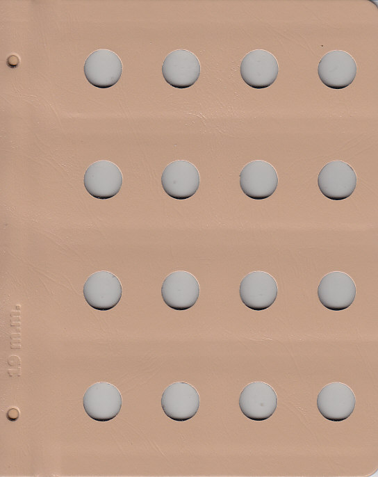 Dansco 19mm Blank Coin Album Page