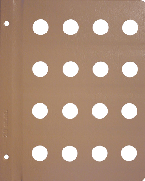 Dansco 20mm Blank Coin Album Page 20mm Blank Dansco Coin Album Page, Dansco,