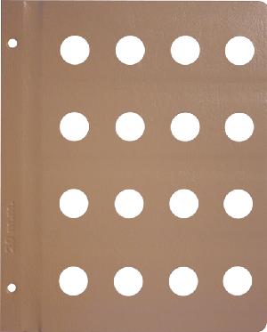 Dansco 20mm Blank Coin Album Page