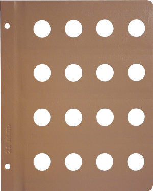 Dansco 21mm Blank Coin Album Page 21mm Blank Dansco Coin Album Page, Dansco,