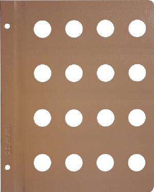 Dansco 21mm Blank Coin Album Page