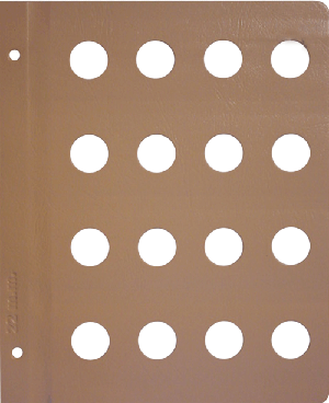 Dansco 22mm Blank Coin Album Page 22mm Blank Dansco Coin Album Page, Dansco,