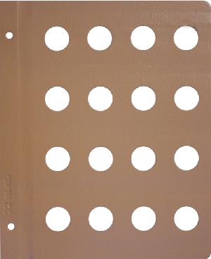 Dansco 22mm Blank Coin Album Page