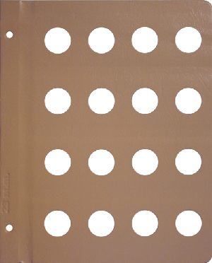 Dansco 23mm Blank Coin Album Page 23mm Blank Dansco Coin Album Page, Dansco,