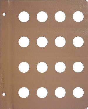 Dansco 23mm Blank Coin Album Page