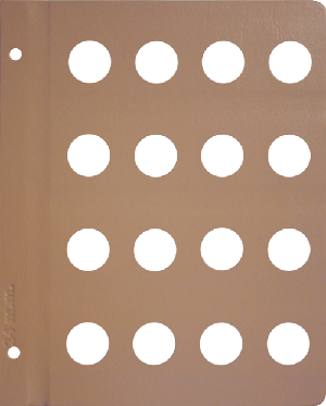 Dansco 24mm Blank Coin Album Page 24mm Blank Dansco Coin Album Page, Dansco,