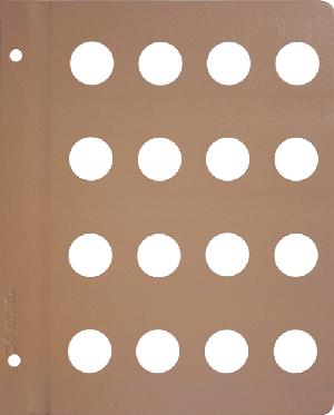 Dansco 24mm Blank Coin Album Page