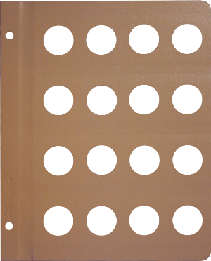 Dansco 26mm Blank Coin Album Page