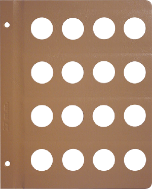 Dansco 27mm Blank Coin Album Page 27mm Blank Dansco Coin Album Page, Dansco,