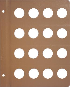 Dansco 27mm Blank Coin Album Page