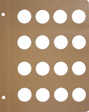 Dansco 29mm Blank Coin Album Page