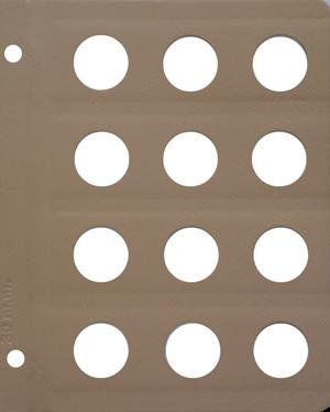 Dansco 30mm Blank Coin Album Page 30mm Blank Dansco Coin Album Page, Dansco,