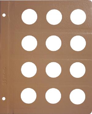 Dansco 31mm Blank Coin Album Page 31mm Blank Dansco Coin Album Page, Dansco,
