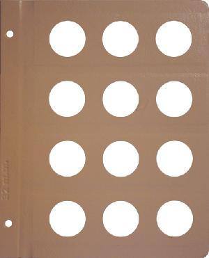 Dansco 32mm Blank Coin Album Page 32mm Blank Dansco Coin Album Page, Dansco,