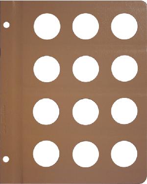 Dansco 33mm Blank Coin Album Page 33mm Blank Dansco Coin Album Page, Dansco,