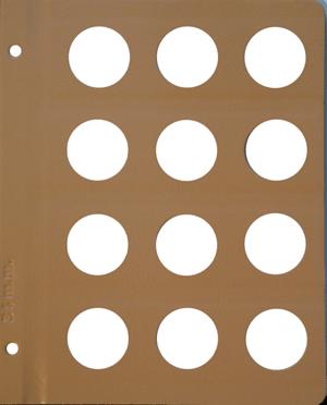 Dansco 34mm Blank Coin Album Page 34mm Blank Dansco Coin Album Page, Dansco,
