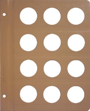 Dansco 36mm Blank Coin Album Page 36mm Blank Dansco Coin Album Page, Dansco,