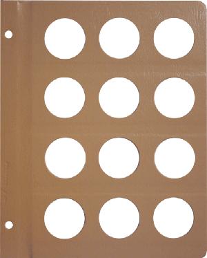 Dansco 37mm Blank Coin Album Page 37mm Blank Dansco Coin Album Page, Dansco,