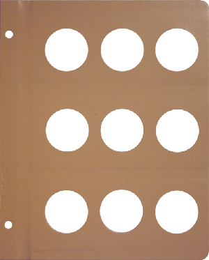 Dansco 38mm Blank Coin Album Page 38mm Blank Dansco Coin Album Page, Dansco,