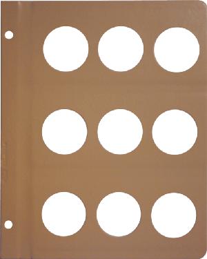 Dansco 40mm Blank Coin Album Page 40mm Blank Dansco Coin Album Page, Dansco,