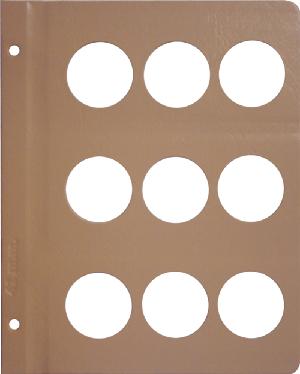 Dansco 41mm Blank Coin Album Page 41mm Blank Dansco Coin Album Page, Dansco,