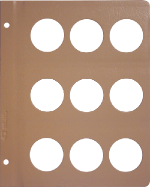 Dansco 42mm Blank Coin Album Page 42mm Blank Dansco Coin Album Page, Dansco,
