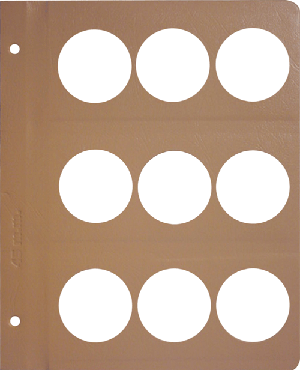 Dansco 45mm Blank Coin Album Page 45mm Blank Dansco Coin Album Page, Dansco,