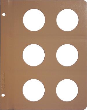 Dansco 48mm Blank Coin Album Page 48mm Blank Dansco Coin Album Page, Dansco,