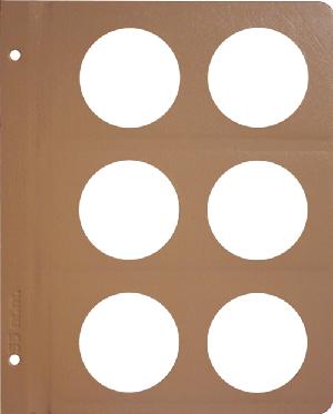 Dansco 55mm Blank Coin Album Page 55mm Blank Dansco Coin Album Page, Dansco,