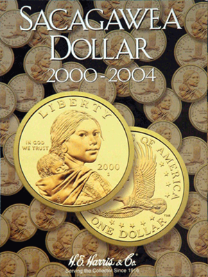 Sacagawea Dollar 2000-2004 HE Harris Coin Folder 6x7.75 Sacagawea Dollar 2000-2004 HE Harris Coin Folder, HE Harris & Co, 2715
