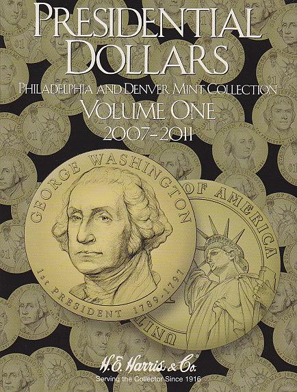 Presidential Dollar Vol. 1 P&D HE Harris Coin Folder 6x7.75