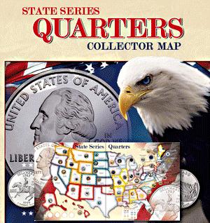 Whitman State Quarter Map 13x39 Whitman State Quarter Map, quarter map, state quarter map, state quarter