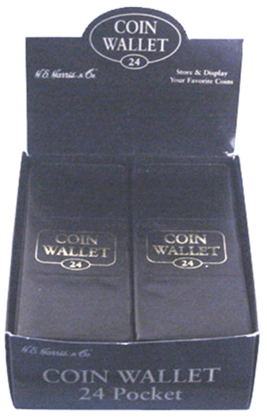 1942 24 Pocket Coin Wallet 7x2.75 1942 24 Pocket Coin Wallet, HE Harris & Co, 8ANC1317